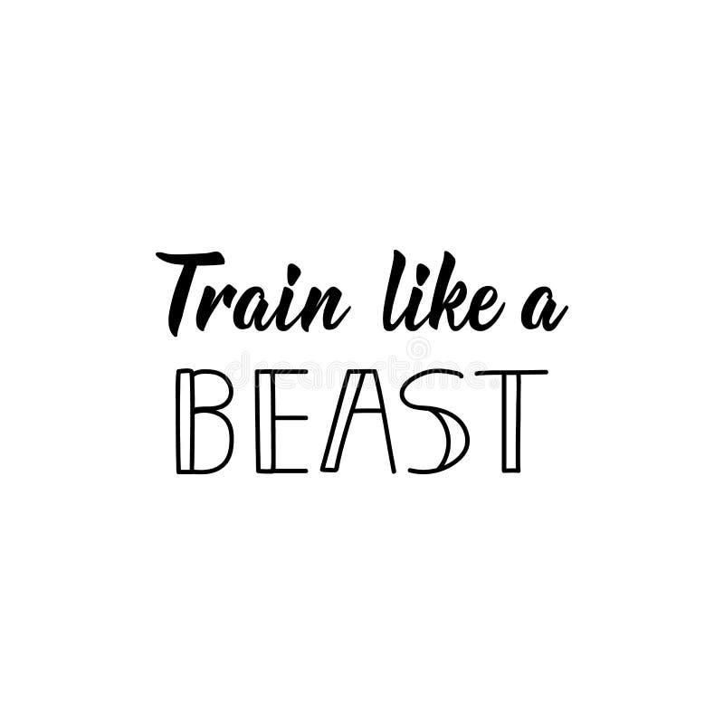 象野兽传染媒介例证的火车 ?? r 体育健身房,健身标签 库存例证