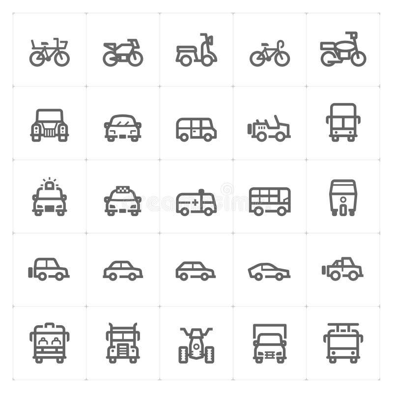 """象集合†""""车和运输导航例证 向量例证"""