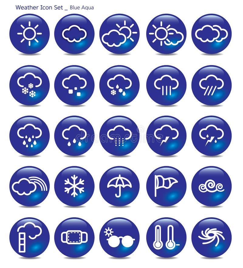 象集合天气蓝色水色 库存例证