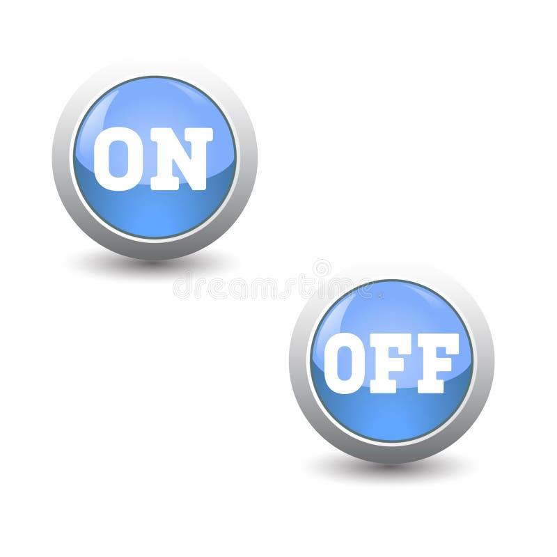 象集合,断断续续的按钮,控制板的 库存例证