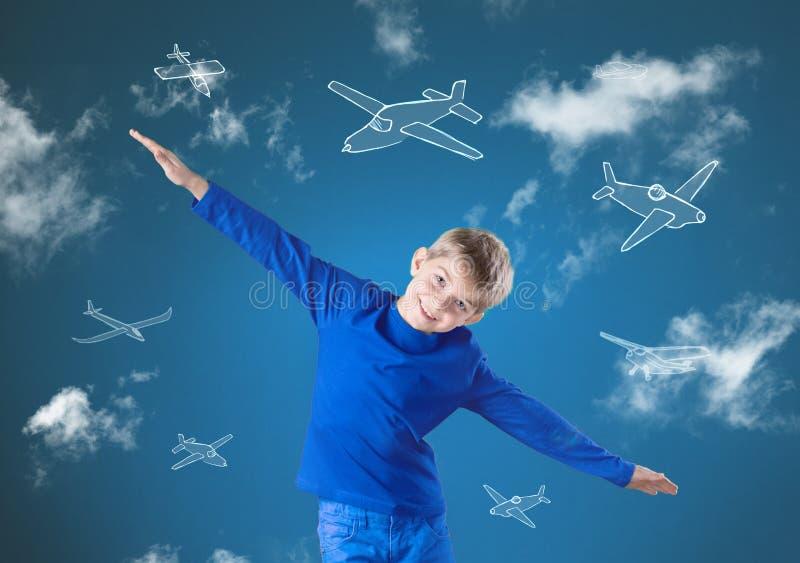 象飞机的飞行 图库摄影