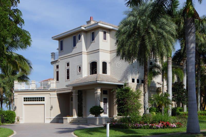 豪华佛罗里达房地产 库存照片