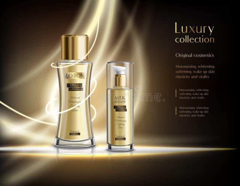 豪华化妆用品现实广告海报 皇族释放例证