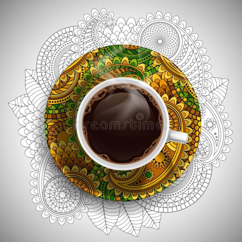 豪华咖啡杯 向量例证