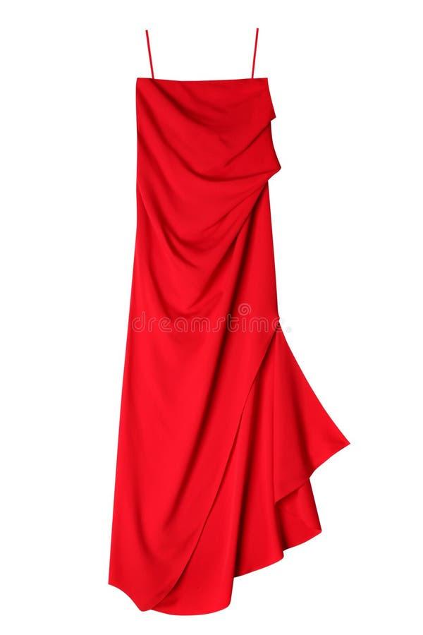 豪华妇女红色礼服 库存照片