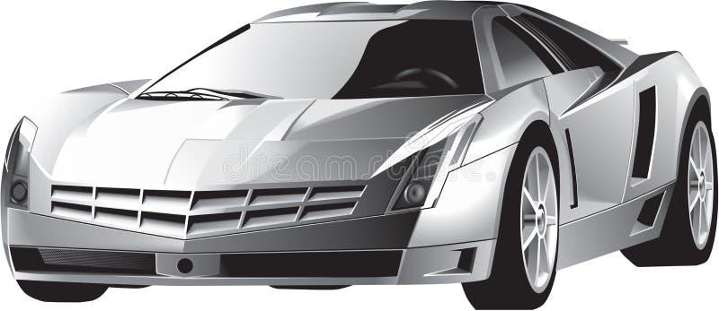 豪华快速的驾驶的跑车 免版税库存图片