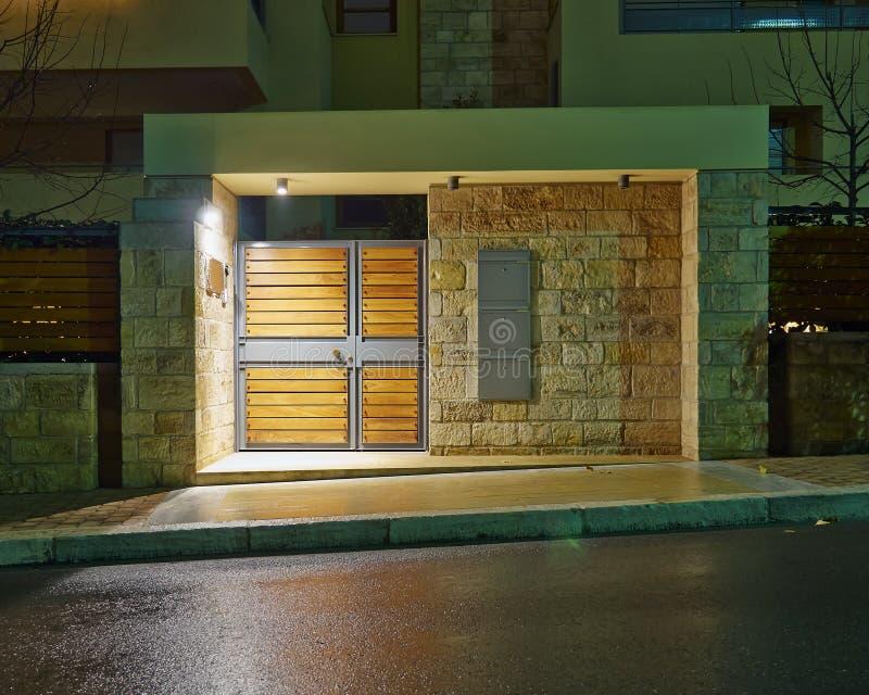 豪华房子入口,雅典希腊 免版税库存图片