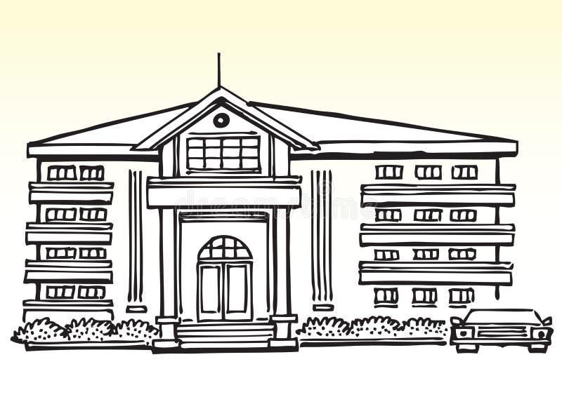 豪华房子或豪宅 皇族释放例证