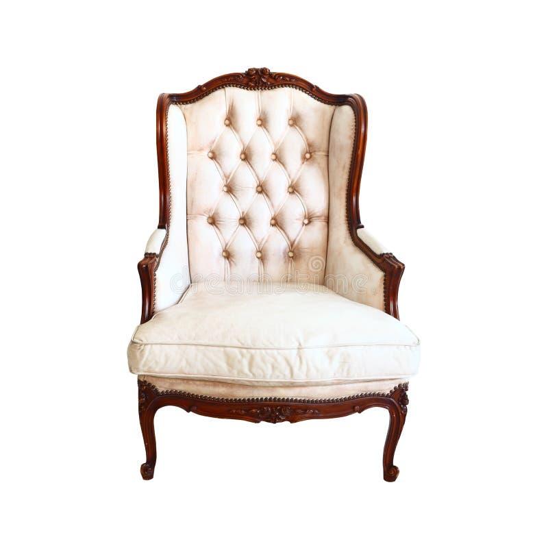 豪华扶手椅子葡萄酒 向量例证