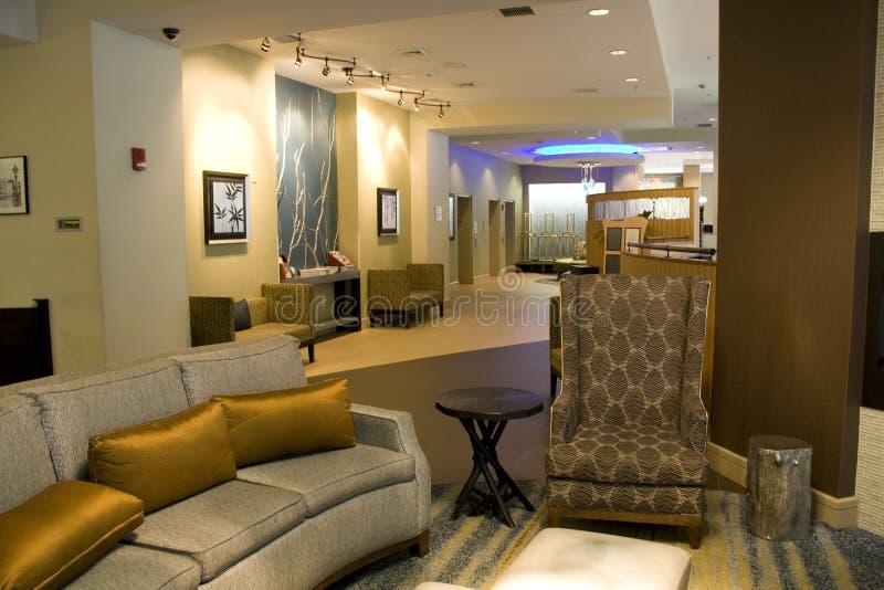 豪华旅馆大厅客厅内部 库存图片