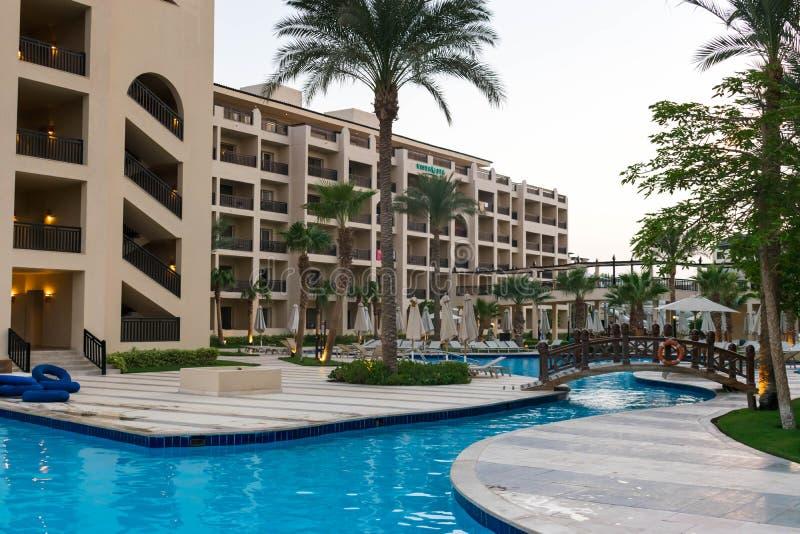 豪华旅馆Steigenberger水色魔术在埃及 免版税图库摄影
