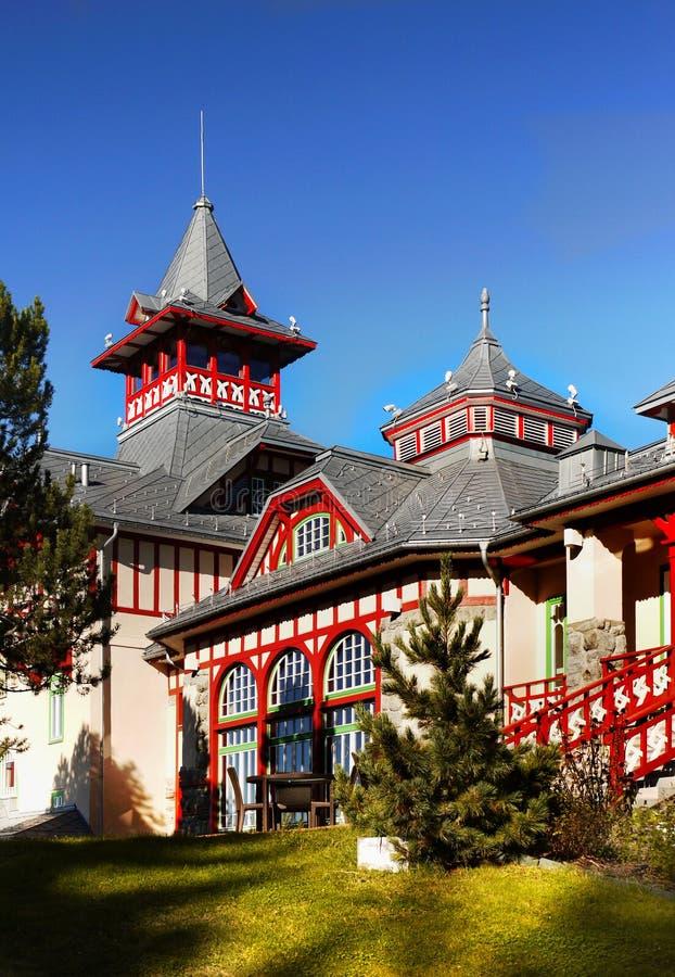 豪华旅馆Strbske普莱索,高Tatras 库存照片