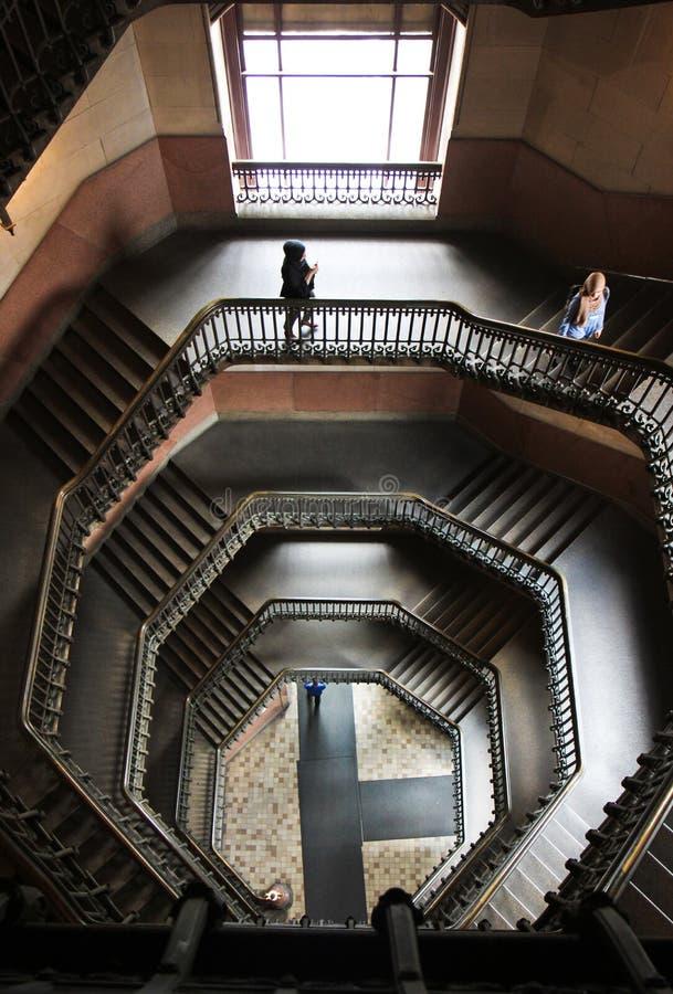 豪华楼梯在费城大会堂 库存图片