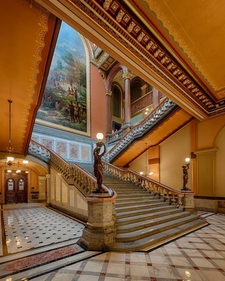 豪华楼梯 库存图片