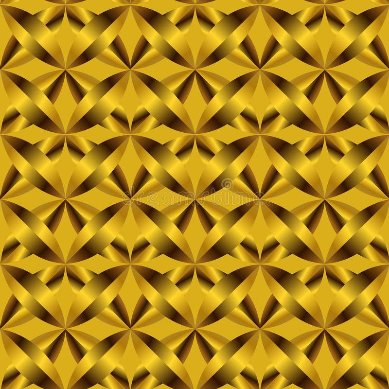 豪华欢乐金黄棕色样式和背景 皇族释放例证