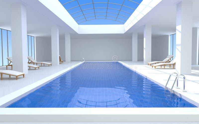 豪华池游泳 库存例证