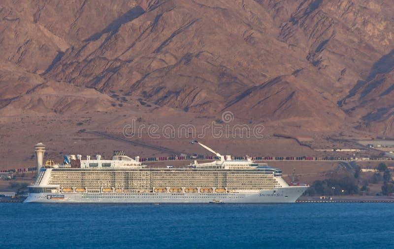 豪华海洋巡航范围海是海洋巡航划线员 免版税库存图片