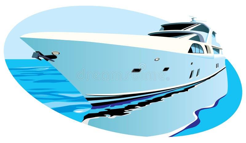 豪华游艇 向量例证