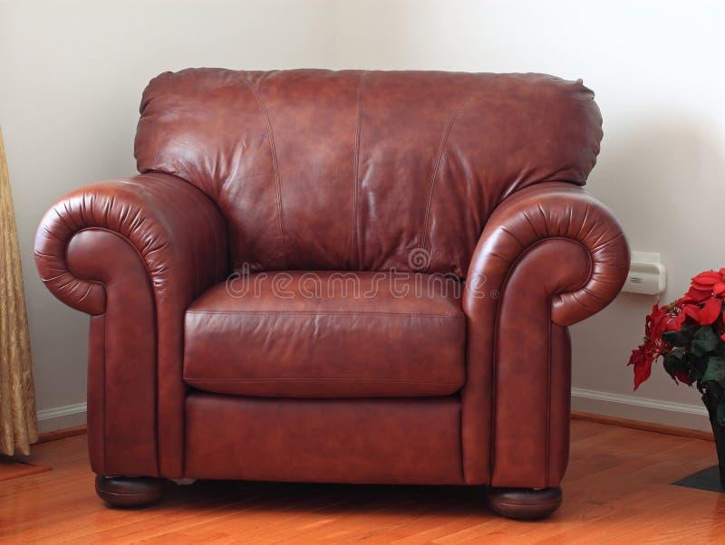 豪华皮革扶手椅子 库存图片