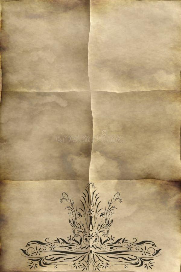 豪华老纸的羊皮纸 皇族释放例证