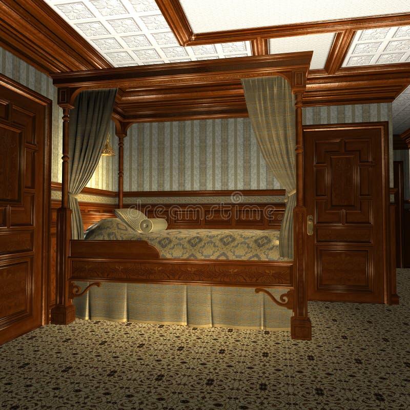 豪华老船stateroom 向量例证