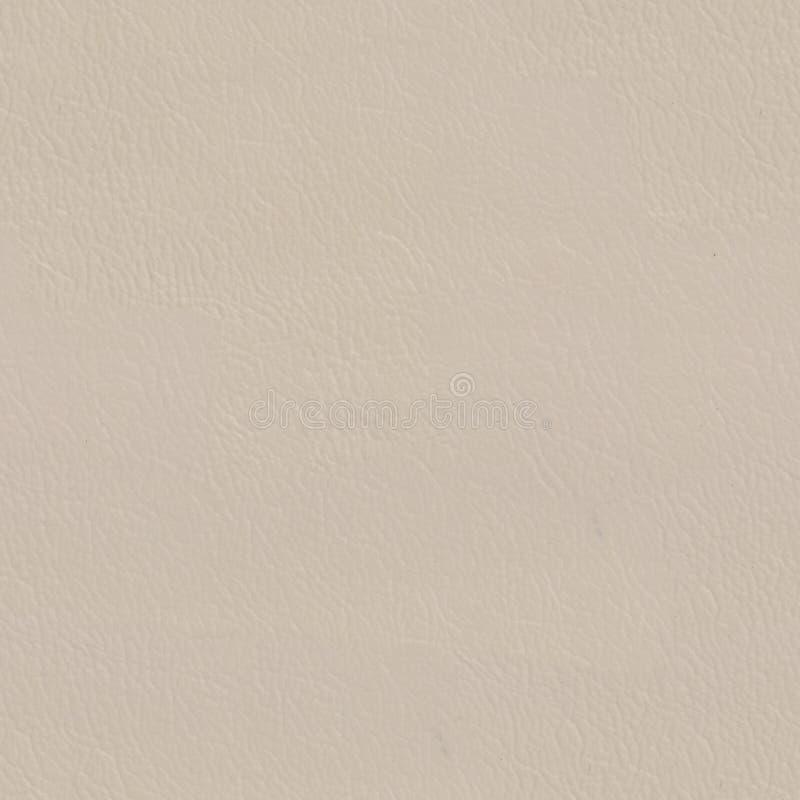 豪华自然米黄皮革纹理 背景无缝的正方形 免版税库存照片