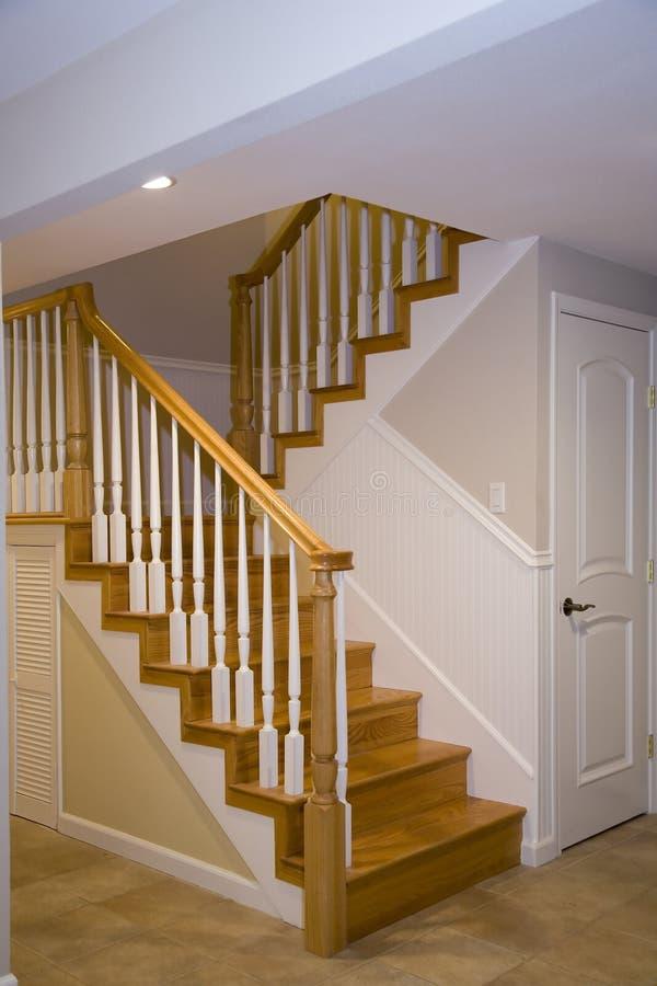豪华被改造的楼梯 库存照片