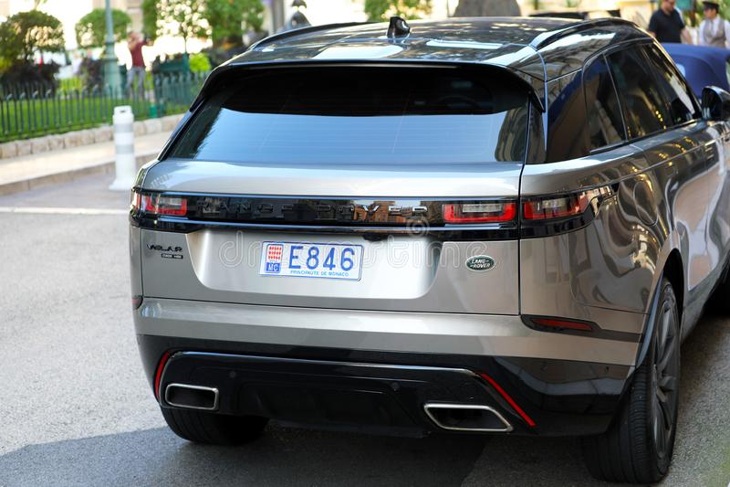 豪华路华汽车软颚音在摩纳哥 免版税库存照片