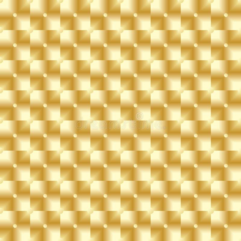 豪华金黄方形的小点无缝的样式 向量例证