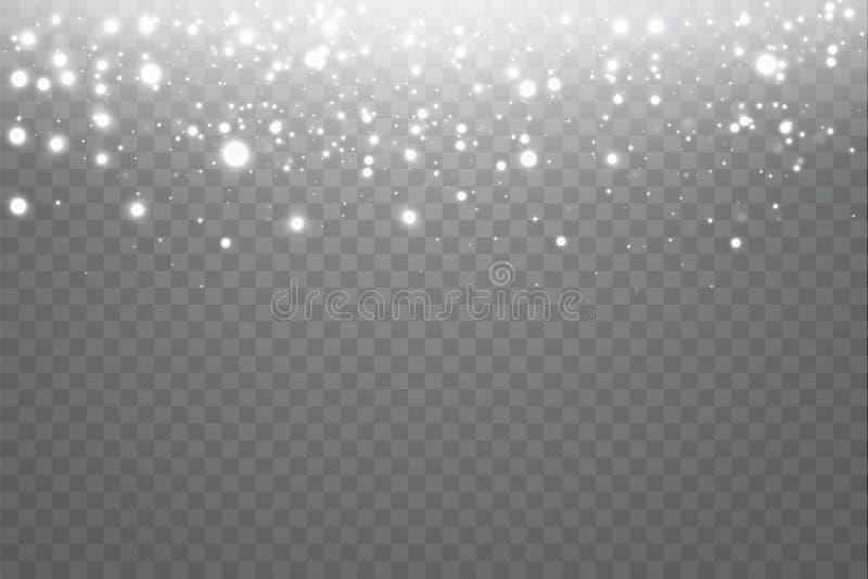豪华问候富有卡片的传染媒介霓虹闪烁微粒背景影响 闪耀的蓝色纹理 向量例证
