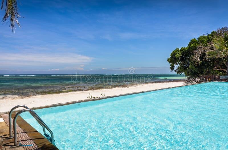 豪华非洲手段的游泳场 免版税库存图片