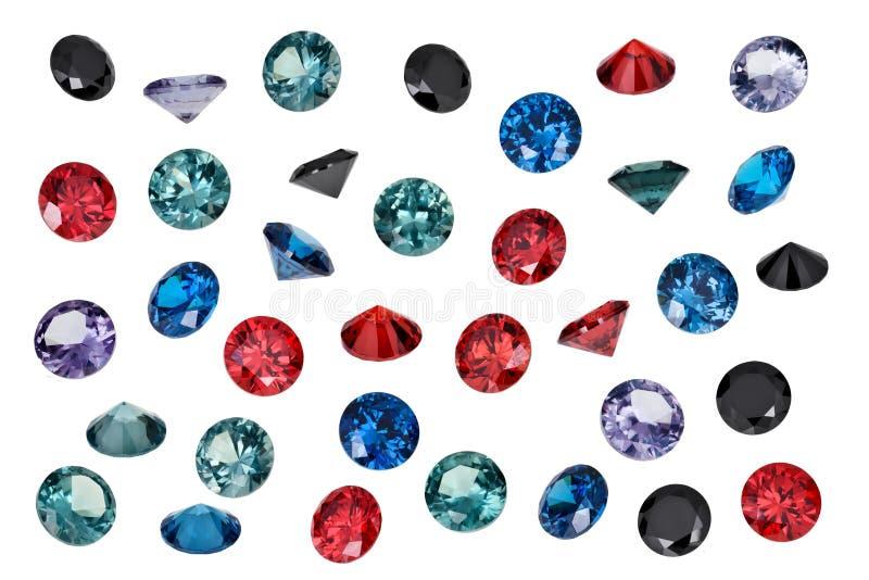 豪华首饰宝石,套色的宝石 免版税库存图片