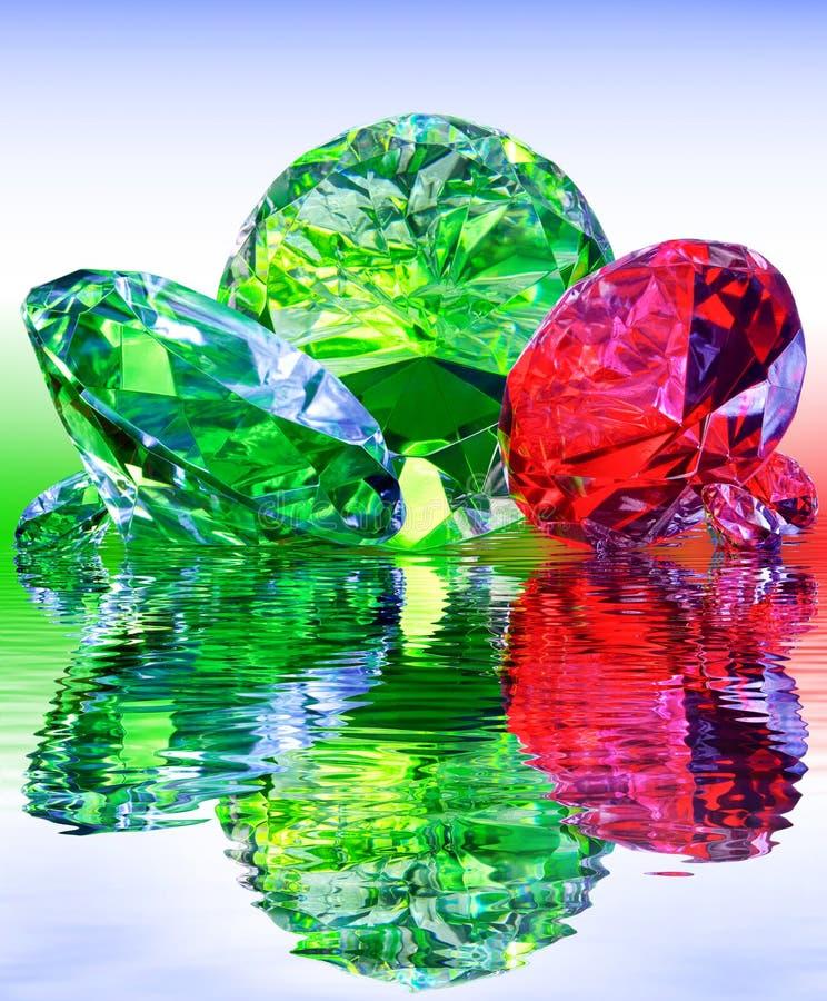 豪华,宝石,反映在水 免版税库存图片