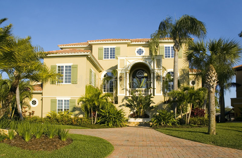 豪宅在佛罗里达 库存图片