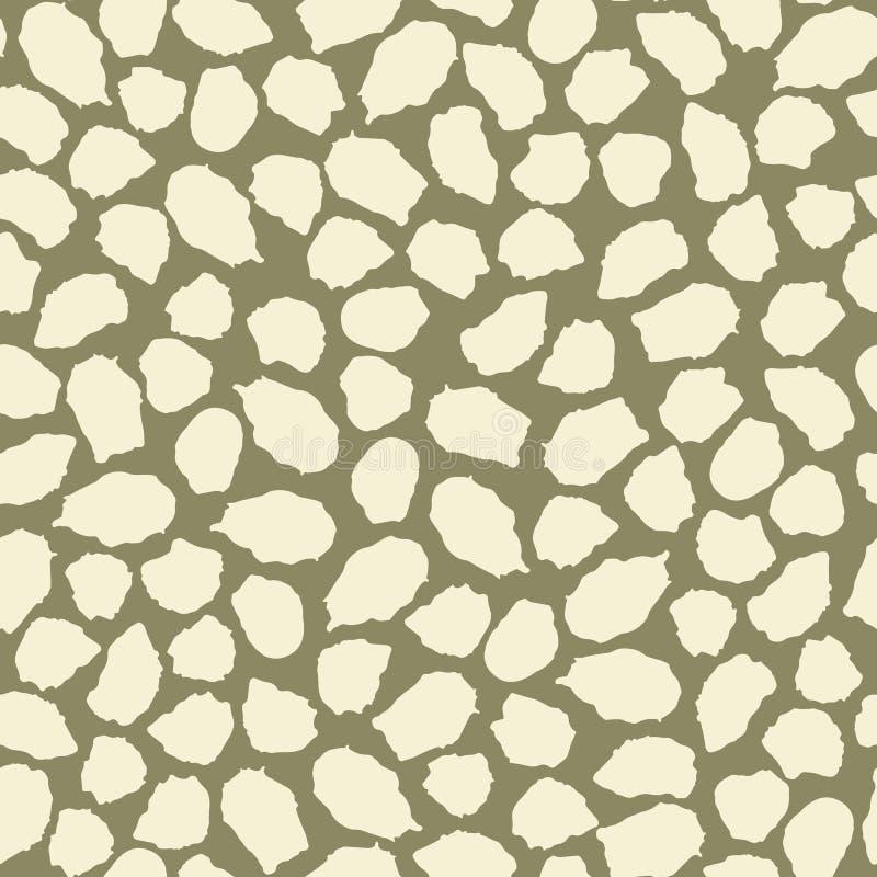 豹子斑点的抽象无缝的样式 墨水和刷子 拉长的现有量 向量例证
