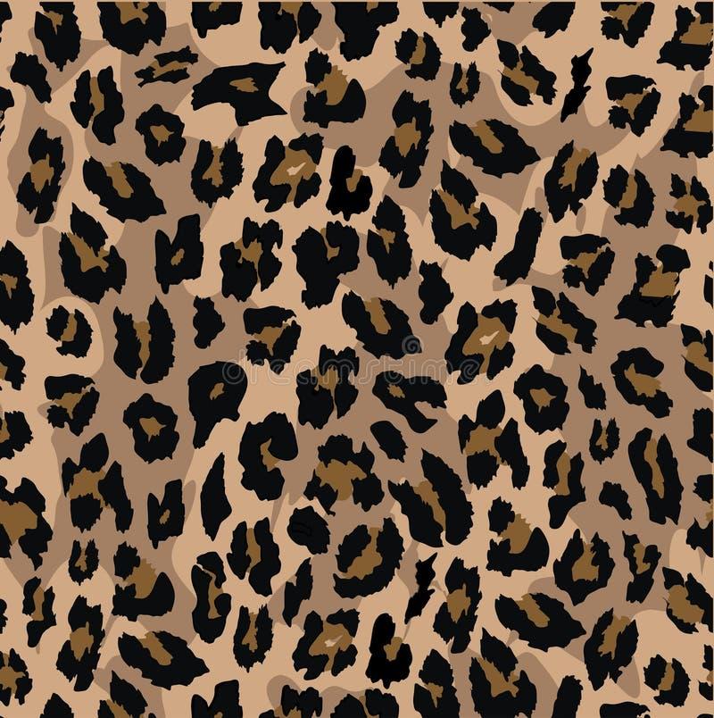 豹子无缝的样式设计 背景花新例证离开牛奶向量 皇族释放例证