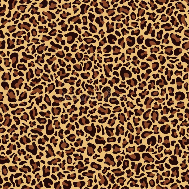 豹子皮肤的无缝的样式 皇族释放例证