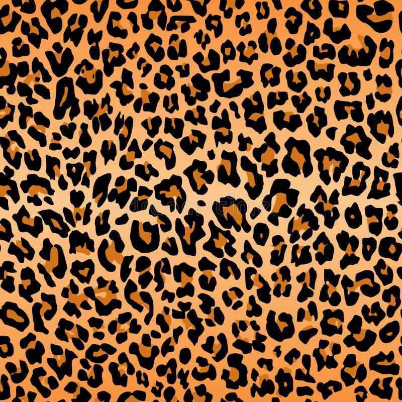 豹子重复无缝的橙色黑毛皮印刷品皮肤的样式纹理 向量例证