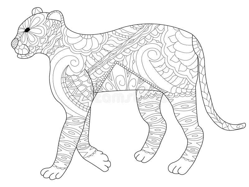 豹成人的着色传染媒介 库存例证