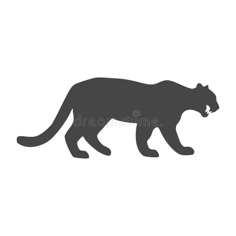 豹,美洲狮,野猫象-例证 皇族释放例证