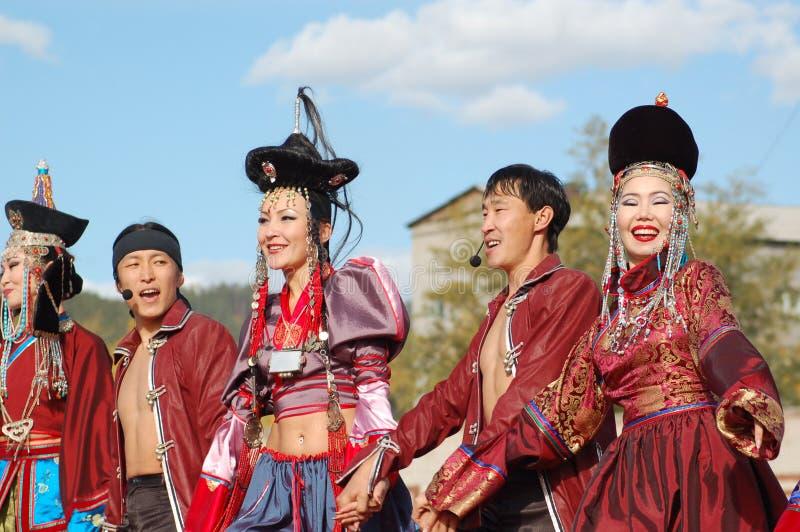 贝加尔湖公司舞蹈歌曲 免版税库存图片