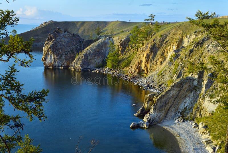 贝加尔湖海岛湖olkhon 免版税库存照片