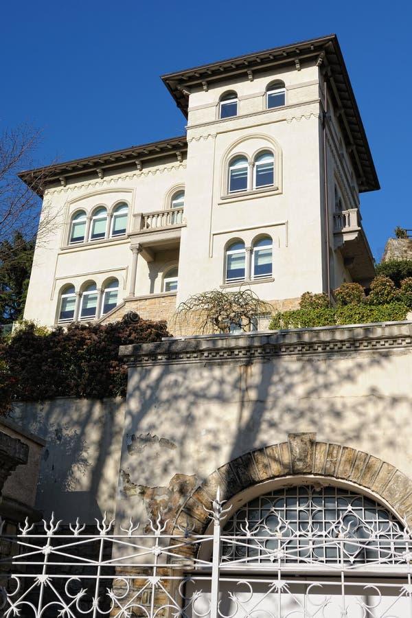 贝加莫意大利伦巴第圣vigilio别墅 库存照片