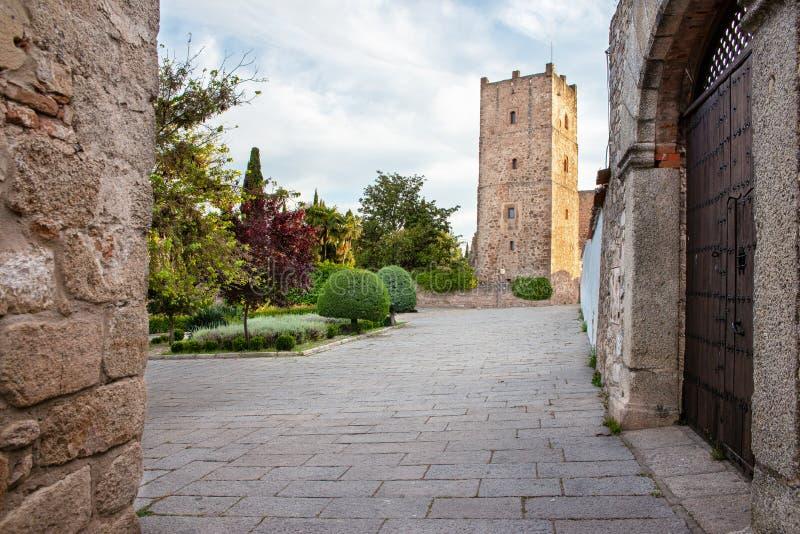 贝哈拉诺城堡,特鲁希略角,卡塞里斯,西班牙 库存图片