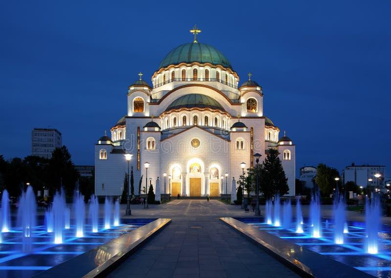 贝尔格莱德大教堂圣徒sava 免版税库存照片