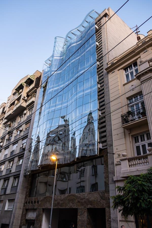 贝尔格莱德市,现代建筑 塞尔维亚 欧洲 库存照片