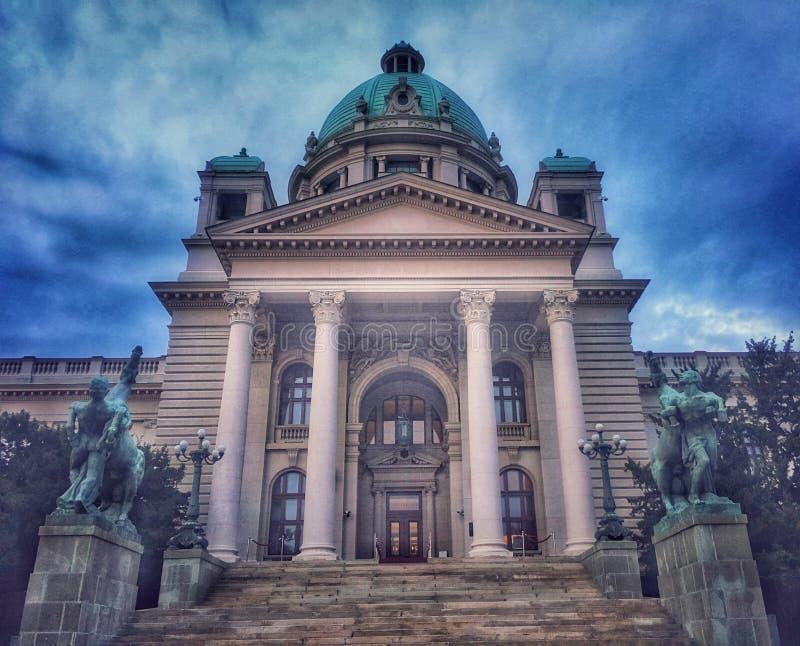 贝尔格莱德,塞尔维亚建筑学  库存图片