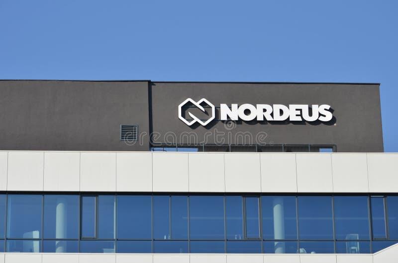 贝尔格莱德,塞尔维亚- 2019年6月16日:Nordeus商标标志 库存照片