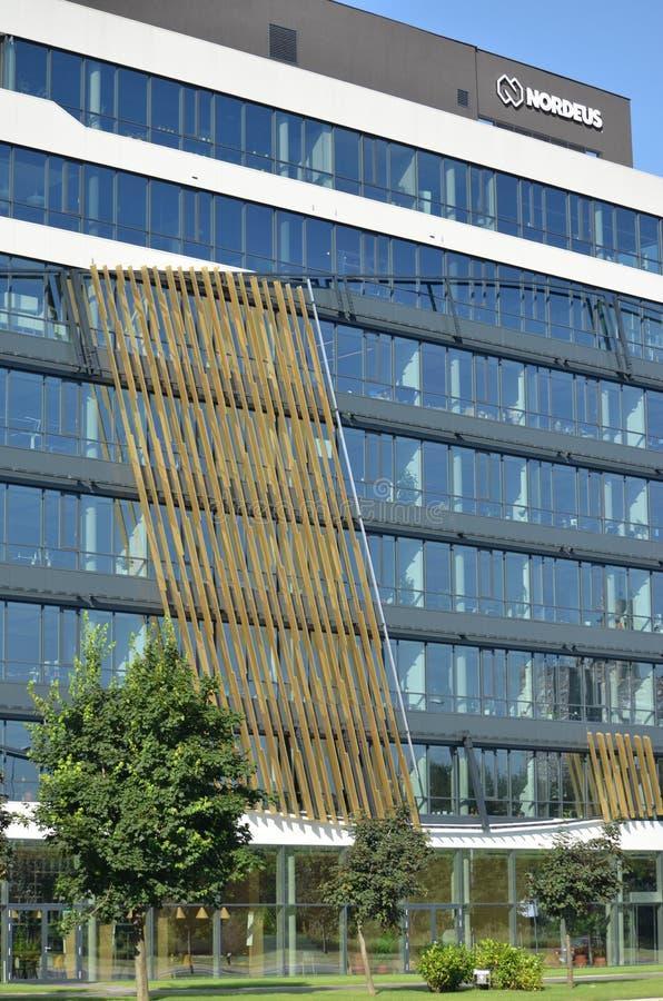 贝尔格莱德,塞尔维亚- 2019年6月16日:Nordeus大厦和商标 库存图片