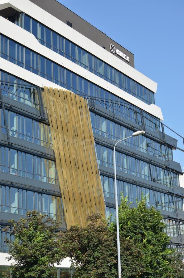 贝尔格莱德,塞尔维亚- 2019年6月16日:Nordeus大厦和商标 库存照片